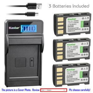 Replacement Battery LCD Charger for JVC BN-VF808 BN-VF808U and JVC GZ-MG430 Camcorder