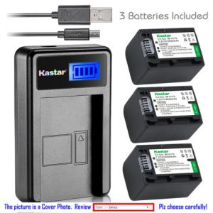 Replacement Battery LCD Charger for Sony NP-FH70 and Sony HDR-XR200 HDR-XR500 HDR-XR520