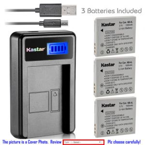 Replacement Battery LCD Charger for Canon NB-4L NB-4LH and Canon PowerShot SD200 SD300
