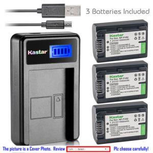 Replacement Battery LCD Charger for Sony NP-FV50 and Sony HDR-CX550 HDR-CX560 HDR-CX580