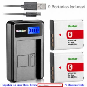 Replacement Battery LCD Charger for Sony NP-BG1 NP-FG1 Sony Cyber-shot DSC-H70 Camera