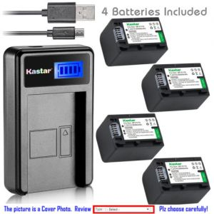 Replacement Battery LCD Charger for Sony NP-FH70 and Sony HDR-SR62 HDR-SR67 HDR-SR7