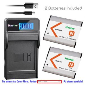 Replacement Battery LCD USB Charger for Sony NP-BN1 BC-CSN and Sony Cyber-shot DSC-WX9