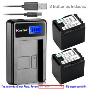 Replacement Battery LCD Charger for Canon BP-819 and Canon VIXIA HF M32, VIXIA HF M36