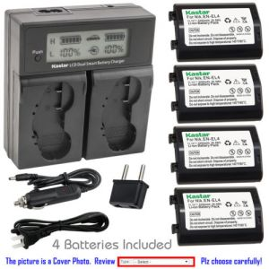 Replacement Battery LCD Dual Fast Charger for Nikon ENEL4 MH21 MH22 Nikon Camera D2Hs
