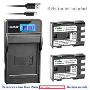 Replacement Battery LCD Charger for Canon NB-2L CB-2LW and Canon MD255 MD265 IXY DV3