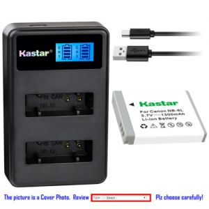 Replacement Battery LCD Dual Charger for Canon NB-6L NB6LH and Canon PowerShot SX710 HS
