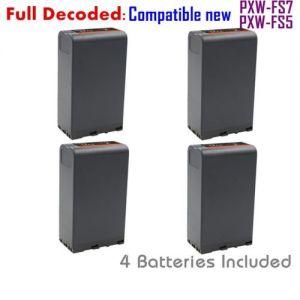 Replacement BP-U96 Battery (4-PACK) for Sony BP-U90 BP-U60 BP-U30 Fully Decoded