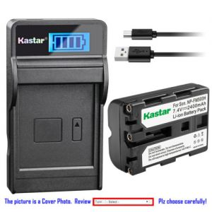 Replacement Battery LCD Charger for Sony NP-FM500H AC-SQ950 and Sony Alpha ILCA-77M2