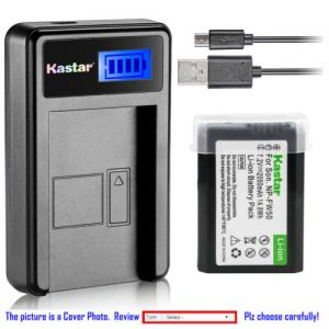 Replacement Battery LCD Charger for Sony NP-FW50 BC-TRW and Sony ILCE-6500 Alpha a6500
