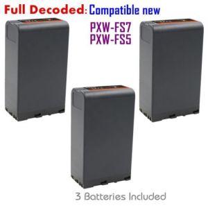 Replacement BP-U96 Battery (3-PACK) for Sony BP-U90 BP-U60 BP-U30 Fully Decoded