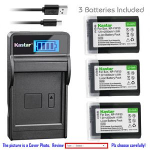 Replacement Battery LCD Charger for Sony NP-FW50 and Sony NEX-6 NEX-F3 SLT-A33 SLT-A35