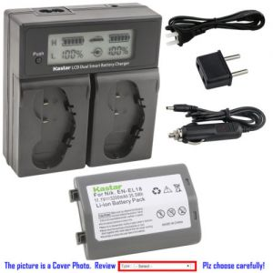 Replacement Battery LCD Dual Fast Charger for Nikon EN-EL18 Nikon MH-26 MH-26a MH-26b