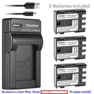 Replacement Battery Slim Charger for Canon NB-2L CB-2LW and Canon VIXIA HV30 VIXIA HV40