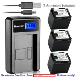 Replacement Battery LCD Charger for Canon BP-819 BP819 CG-800 and Canon XA10, XA10 HD