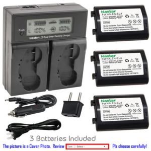 Replacement Battery LCD Dual Fast Charger for Nikon EN-EL4a MH-22 and Nikon Camera D3S