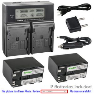 Replacement Battery LCD Dual Fast Charger for Canon BP-970G and Canon XH-G1 HDV XH-G1S
