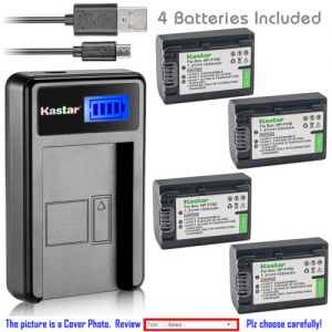 Replacement Battery LCD Charger for Sony NP-FV50 and Sony DCR-SX53 DCR-SX63 DCR-SX65