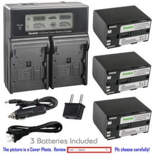 Replacement Battery LCD Dual Fast Charger for Canon BP-970G and Canon G10Hi G15Hi G20Hi