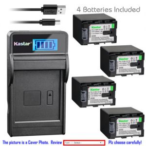 Replacement Battery LCD Charger for JVC BN-VG138 and JVC Everio GZ-E505 Everio GZ-E565
