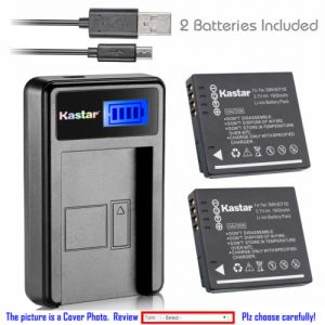 Replacement Battery LCD Charger for Panasonic DMW-BCF10 and Panasonic Lumix DMC-TS3