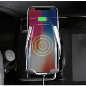 Universal Automatic Clamping Qi Wireless Car Charger Mount Holder for iPhone and Android Phones