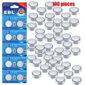 100 LR44 A76 L1154 AG13 357 357A SR44 303 1.5V Alkaline Button Coin Cell Battery
