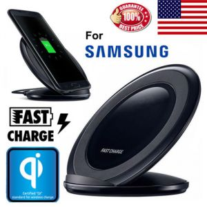 Fast QI Wireless Charger Charging Pad Stand for Samsung Glaxy S8 Plus S7/S6 Edge