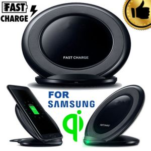 For Samsung Note8 S8 S7 S6 Qi Wireless Fast Charger Charging Stand Dock Pad USA