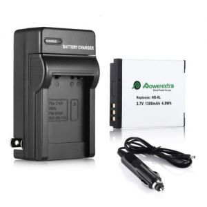 NB-6L Battery + Car Home Charger For Canon PowerShot SD4000 SX500 SX260 IS S95