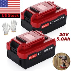 2Pack 20V Max 5.0Ah Lithium Battery for Porter Cable PCC685L PCC680L Power Tool