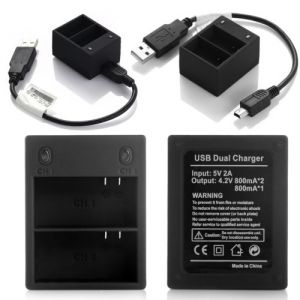 USB Dual Battery Charger For Gopro HD Hero 3 3+ Black Edition AHDBT 201 301 302