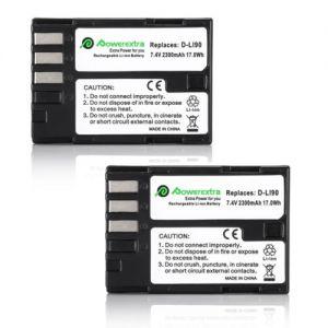 2x 2300mAh Decoded D-LI90 Batteries For Pentax K-01 K-3 K-5 K-5 II K-5 IIs 645D