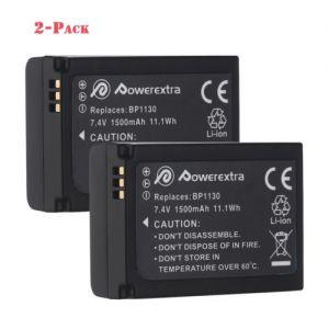 2-Pack BP-1130 BP1130 Battery for Samsung NX200 NX210 NX300 NX1000 NX1100 NX2000