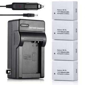 NB-10L Battery&Charger Kit for Canon Powershot G16 G15 G1 X SX40 HS SX50 SX60 HS