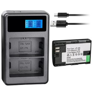 LP-E6 Battery & Dual Charger for Canon EOS 80D, 6D, 7D, 70D, 60D, 5D Mark II III