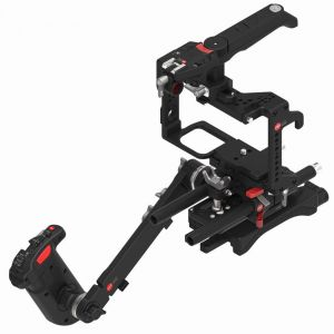 JTZ DP30 DP2 Camera Base Plate + Hand Grip + Shoulder Support Cage Rig for Panasonic GH3/GH4/GH5