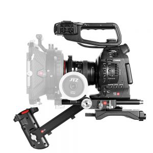 JTZ DP30 DP3 Camera 15mm Rail Base Plate + Hand Grip + Shoulder Support Rig for Canon EOS Cinema Camera C100 C200 C300 Mark II with JTZlink
