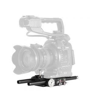 JTZ DP30 DP301 Camera 15mm Rail Base Plate for Canon Cinema EOS C100 C300 C500 Mark II with JTZlink