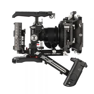 JTZ DP30 DP316 Camera Base Plate + Hand Grip + Shoulder Support Cage Rig for BMPCC Blackmagic Pocket Cinema Camera