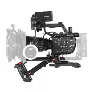 JTZ DP30 DP4 15mm Rail Base Plate + Hand Grip + Shoulder Support Rig for Sony FS5 FXW-FS5 with JTZlink Hub