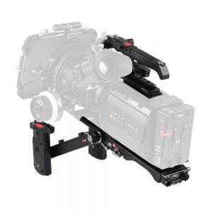 JTZ DP30 DP6 15mm Rail Base Plate + Hand Grip + Shoulder Support Rig for Blackmagic URSA Mini 4K 4.6K EF PL Cinema with JTZlink Hub
